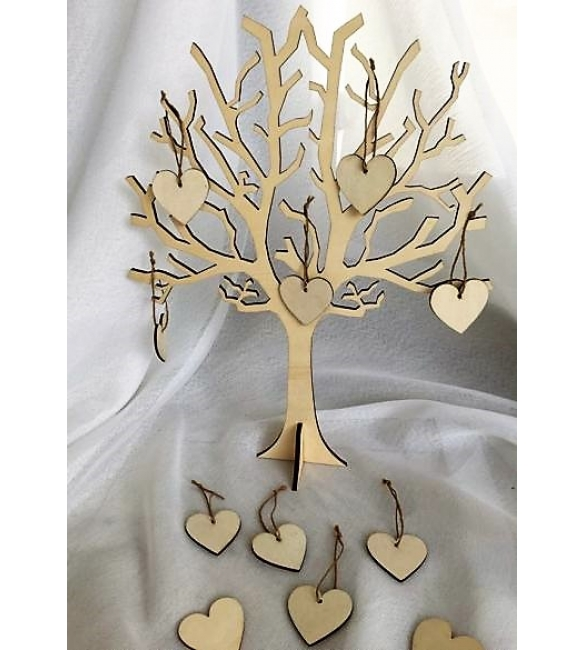 Δέντρο ευχών μαζί με 50 καρδιές!