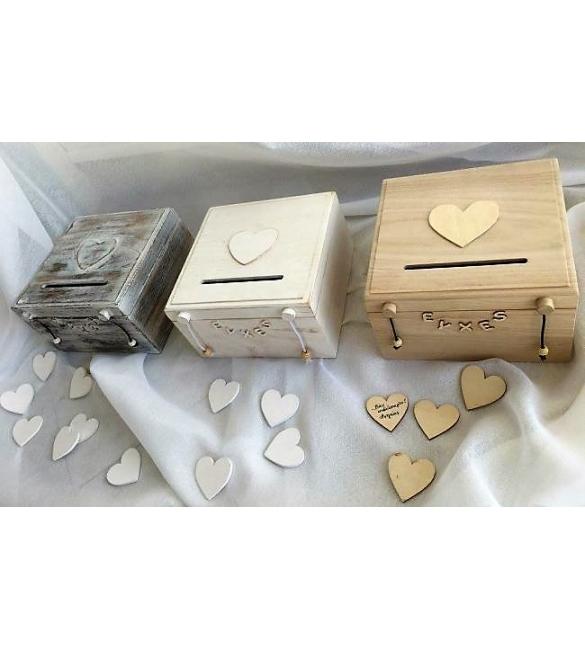 Ξύλινο κουτί ευχών γάμου & βάπτισης.