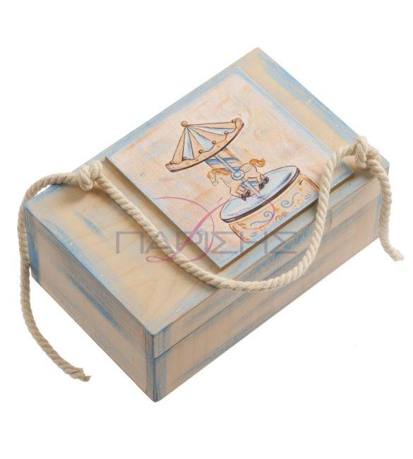 Κουτί ξύλινο μαρτυρικών carouzel!